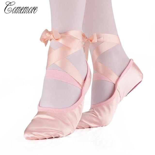 2ba271950051 Comecore профессиональные балетки pointe обувь подходит для женщин, девушек  и девочек. ...