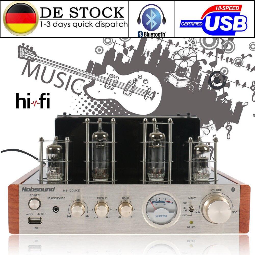 Nobsound MS-10D MKII Bluetooth Soupape Tube Amplificateur USB Audio HiFi Tube Ampli Casque Intégré Hybride Ampli De Puissance 50 w
