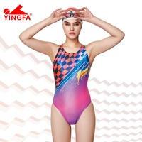Yingfa 2018 NEW Professional Competition One Piece Triangle Training Swimsuit Chlorine Resistant Women S Swimwear Bathing