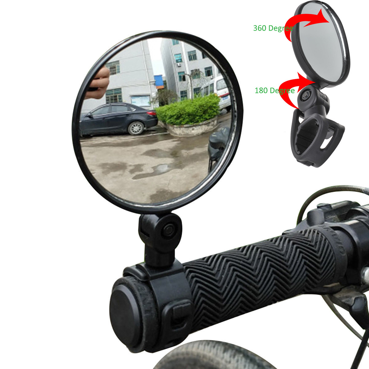Adjustable Motorcycle Looking Glass Bike Rearview Handlebar Bicycle Mirror