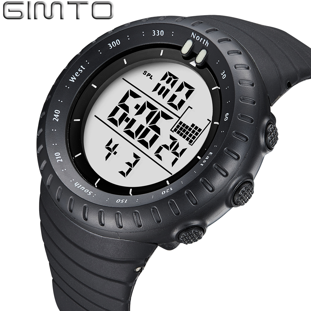 GIMTO Luxury Brand Mens Sports Watches Dive 50m Digital ...