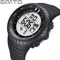 Gimto marca de lujo para hombre relojes deportivos de buceo 50 m electrónica digital led reloj militar hombres moda casual reloj de pulsera caliente