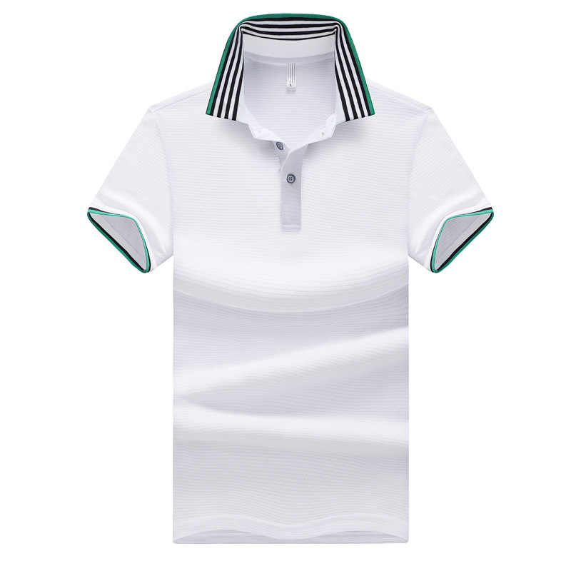 Polo Men Summer Off White Brand Polos Casual Streetwear Slim Fit Poloshirt Mens Short Sleeve Solid Top Man Camisas Masculina 5XL