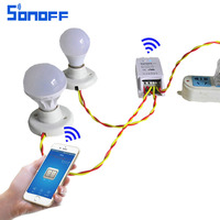 Sonoff Dual 2-Channel Wifi Wireless Switch Smart Home Remote Control ,Intelligent Timer Switch Control Via Android IOS APP