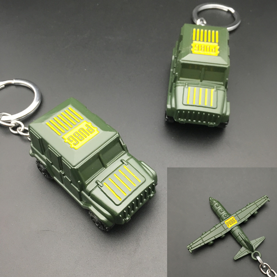 Game Playerunknown Battlefield PUBG keychain 3D Aircraft Car Model Cosplay Accessories Alloy Pendant Prop