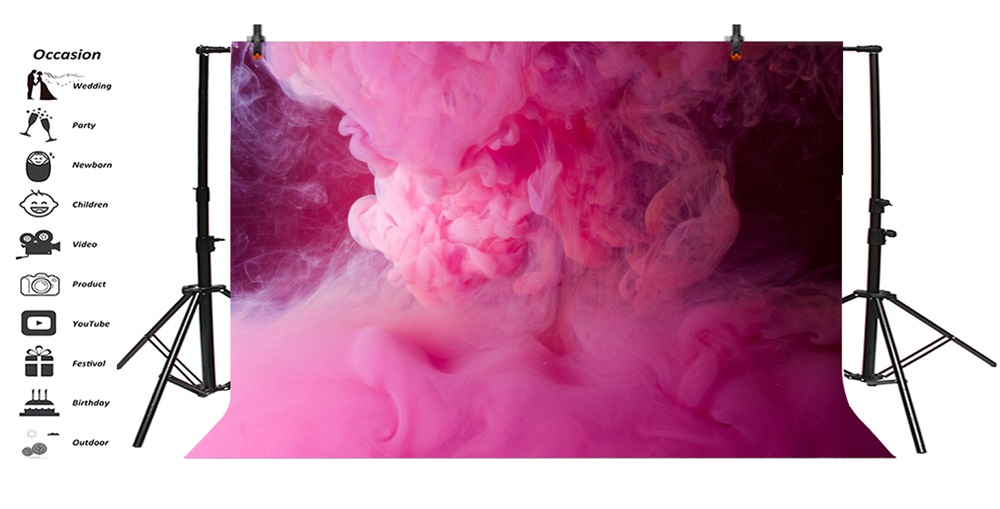 Laeacco Pink Smog Magical Photographic Backgrounds Customized Photography Backdrops For Photo Studio in Background from Consumer Electronics