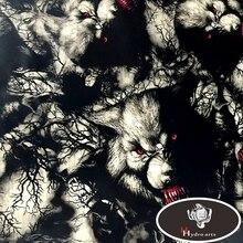 Fierce wolf узор гидрографические пленки вода трансферная печать Плёнки Аква пленка для двигателя украшения HFY-955 50 см