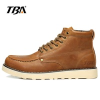 TBA Men S Walking Shoes Dark Brown Yellow Leather Outdoor Sport Shoes Wear Non Slip Walking