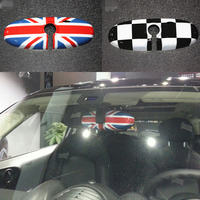 Tcart Rearview Mirror Cover Cap Shell For Mini Cooper One S Countryman R55 R56 R57 R60 R61 Union Jack accessories sticker