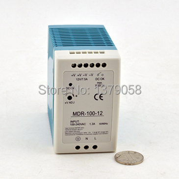 12V 7.5A 100W Small volume din rail single output switching power supply  MDR-100-12 eylure volume 100