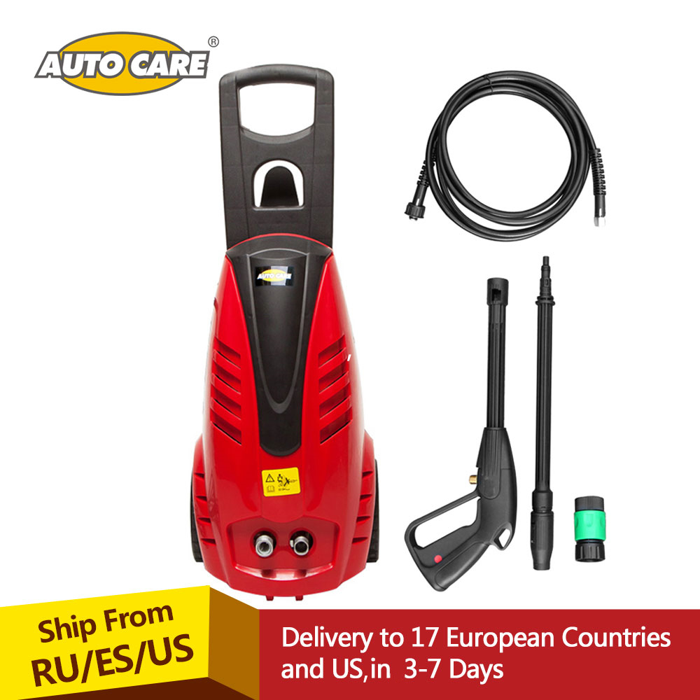 AutoCare 1305 psi Electric Pressure Car Washer 1800 w 90 bar with Power Hose Nozzle High