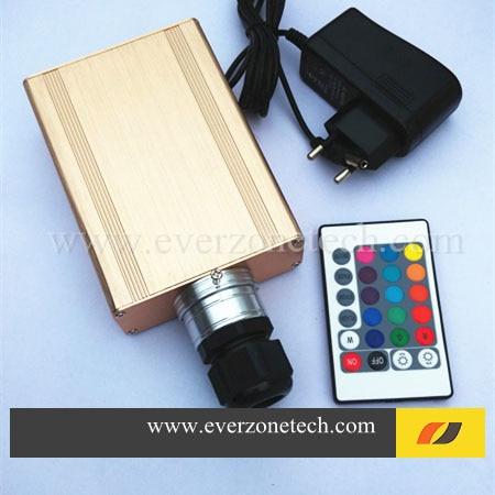 High Quality 16w IR LED Light Generator Optic Fiber With RGB Colors Switching Power Adaptor Fiber Optic Illuminator DIY