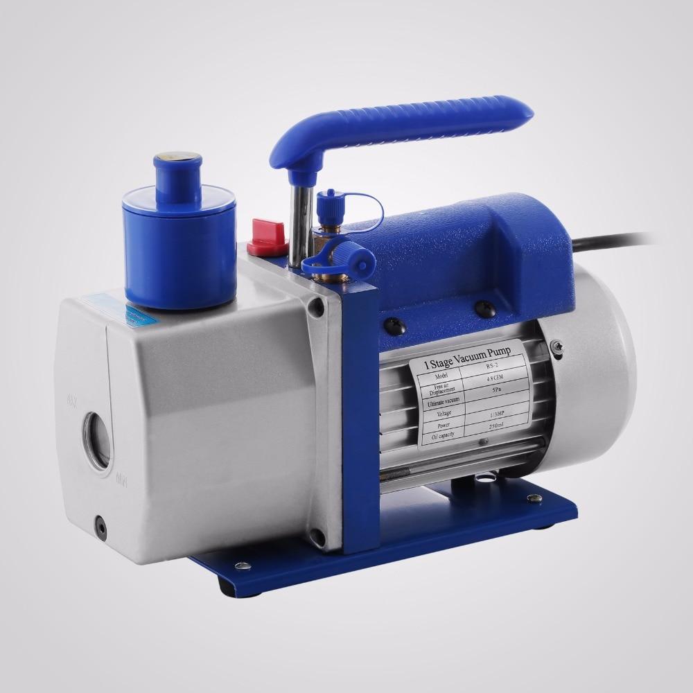 R410A R134A R22 4.8 CFM Vacuum Pump HVAC A/C Refrigerant W/4 Valve Manifold Gauge цена