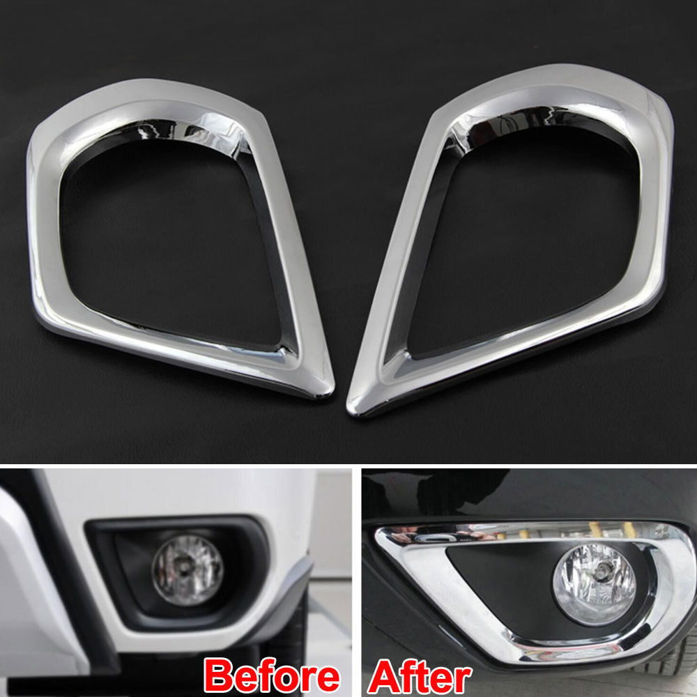 2Pcs ABS Car Front Fog Lamp Light Frame Cover Trim Decoration car Styling Sticker Fit For Forester 2013-2015 Car Accessories