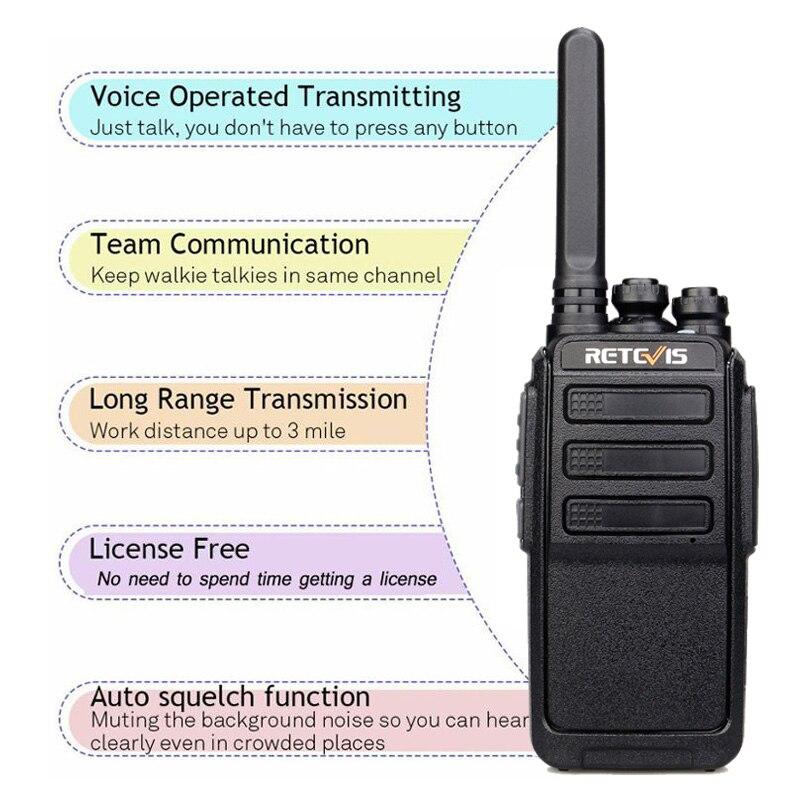 4 pièces rechapé RT28 talkie-walkie PMR Radio VOX PMR446/FRS Micro USB charge Portable Mini émetteur-récepteur de Station de Radio bidirectionnelle - 2