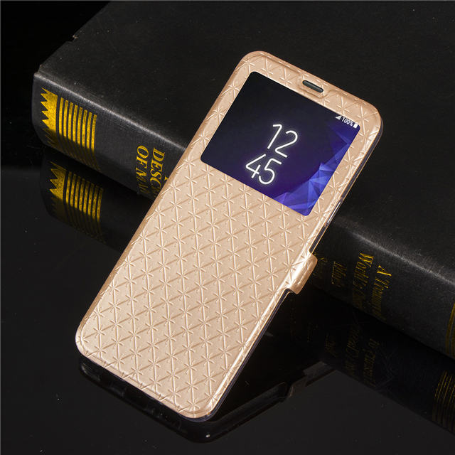 new product c587c 4e41c US $4.24 15% OFF|JohnDan For SAMSUNG Galaxy S9 Plus S9+ Bling Glitter Gold  Window Wallet Flip Book Case For Samsung S 9 S9 Plus Fold Cover Cases-in ...