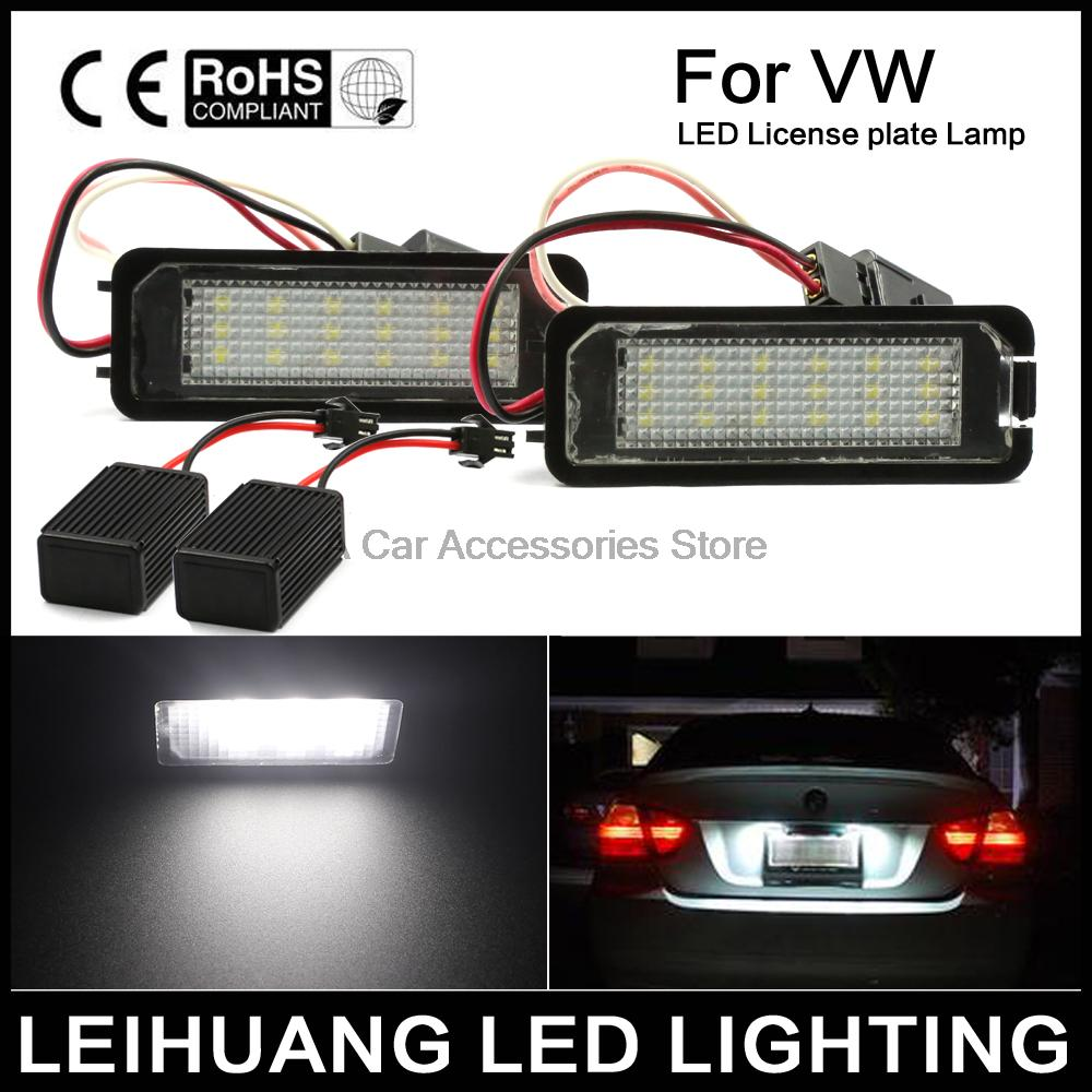 цены Free shipping 2X Canbus auto light Golf 5 Golf6 Golf 7 golf led license plate light tail light car styling for VW MK5 GTI Golf7