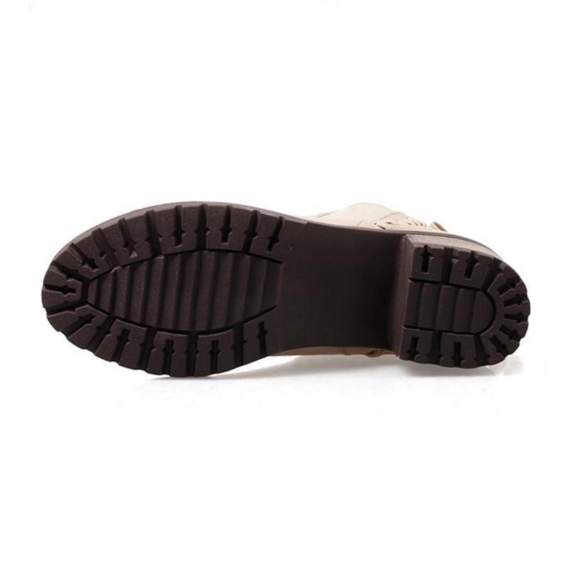 Militar Taoffen verde Botas Tobillo Bowtie marfil Ronda Corto 34 Zapatos Otoño Invierno De Calzado Negro Mujer 43 Tamaño Toe Dulce fwqfpxrU