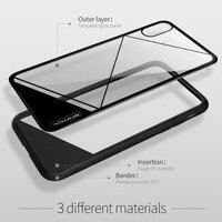 Caso NILLKIN para o iphone x tampa de Vidro Temperado combinar PC nature TPU caixa do telefone para iPhoneX caso claro de luxo 5.8 polegadas