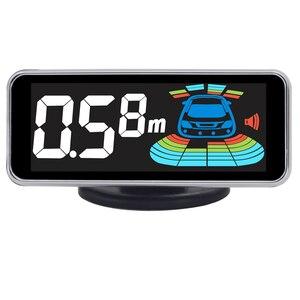 Image 2 - Parking Sensor Parktronic 8 Sensors  Auto Detector Backing Assistance Kit Voice Buzzer Car Automobile Reversing Radar 21.3mm