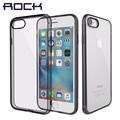 Rock puro series rígido de volta case para iphone 7/7 plus crystal clear phone case para iphone7 voltar hard case com soft borda