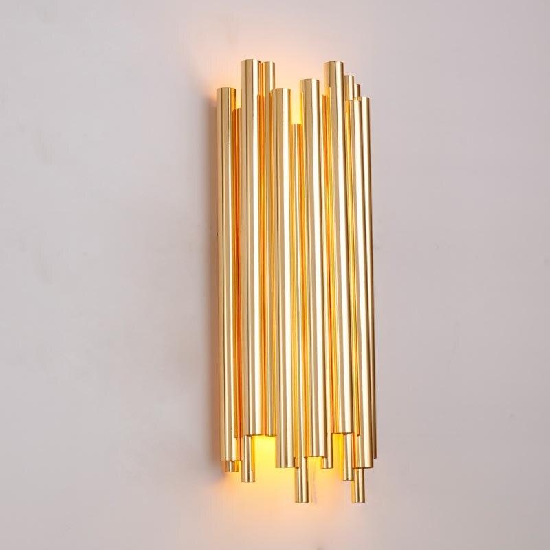 Nordic Алюминий трубки бра ночники коридор Гостиная рядом с свет коридор бра золотой трубы настенный светильник настенный Книги по искусству
