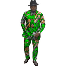 hot deal buy private custom festival africa clothing men print tops+trousers patchwork african clothes for men long sleeve shirt and pant set