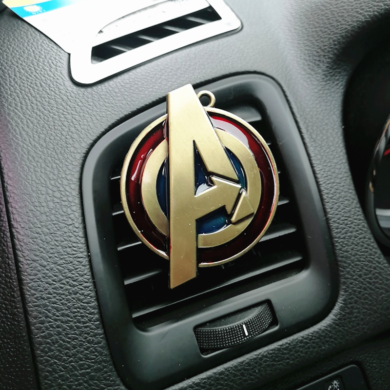 Cartoon Air Freshener Clip Car Styling Perfume For Air Condition Vent The SHIELD Dr. Singular Captain America Superman Fans D1