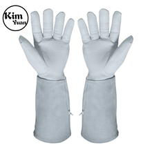 KIM YUAN  Leather Welding Gloves - Heat/Fire Resistant, Perfect for Gardening/Tig Weld/Beekeeping/BBQ kim yuan 019 green garden leather work gloves anti slippery