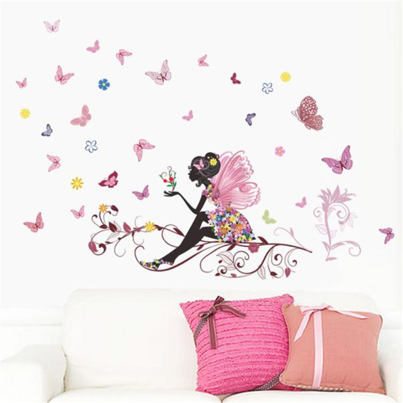 butterfly fairy wall sticker