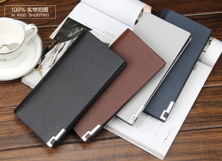 2016 Quality pu leather business casual mens long wallet wallet tide of young men bag multi-card bit card package soft surface