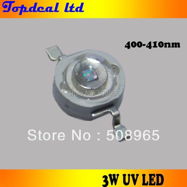 3 Вт UV LED высокой мощности Светодиодная лампа 400-410nm для свет