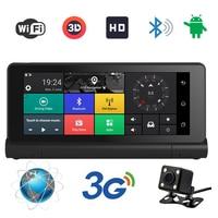 3G 7 inch Car GPS Navigation Bluetooth Android 5.0 Navigators Dual lens av in DVR FHD 1080 Vehicle gps sat nav Free maps