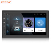 Universal 2 Din Car Multimedia Player 7'' Android 6.0 Audio Video Player Touchscreen Bluetooth WiFi GPS Navigator FM Radio