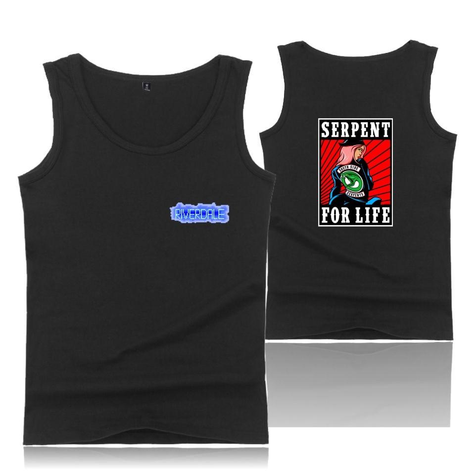 Riverdale Casual Print Vest Clothes   Tank     Tops   Men Summer Sleeveless   Tank     Top   American TV Riverdale XXS To 4XL