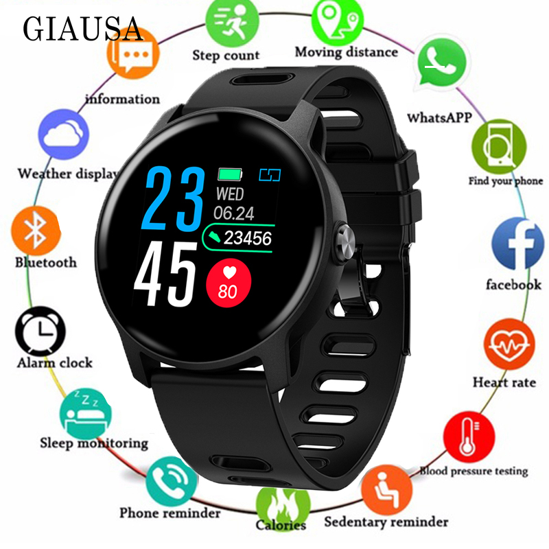 2019 Men Smart Watch <font><b>S08</b></font> IP68 Waterproof Fitness Tracker Heart Rate monitor <font><b>Smartwatch</b></font> Women Clock for android IOS Phone PK P2 image