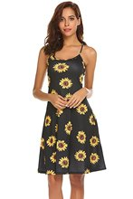 MILLYN IDEAS Women's Sleeveless Adjustable Summer Beach Swing Spaghetti Strap Sleeveless Mini Dress millyn ideas women s summer halter neck floral print sleeveless casual mini dress