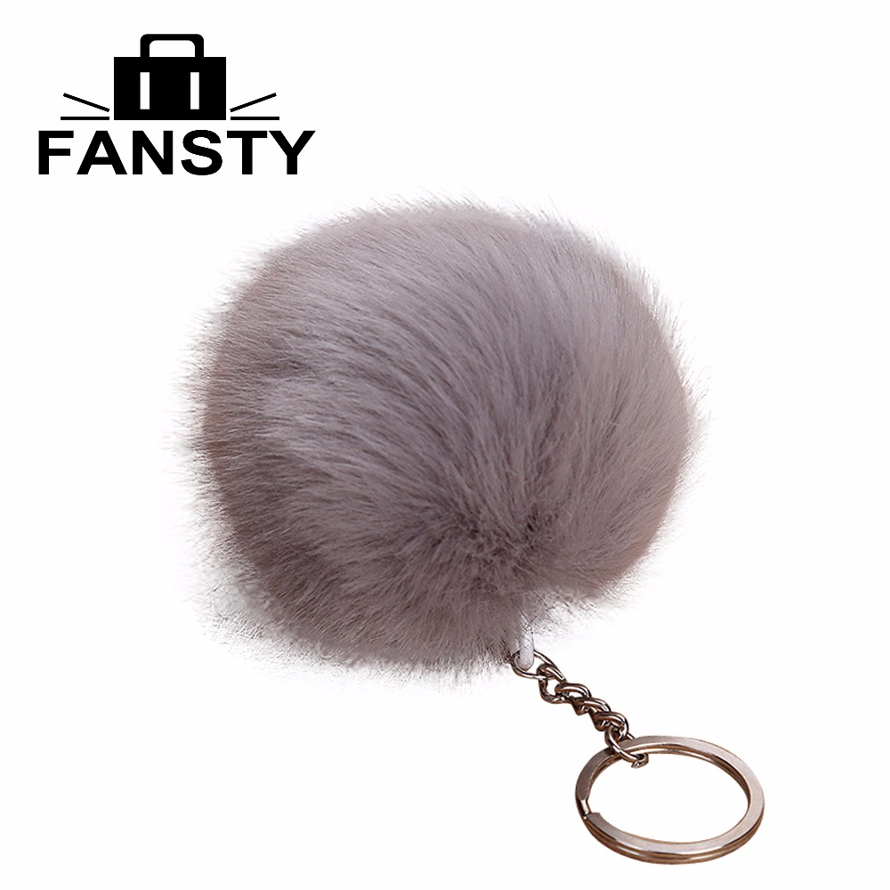 Cute Little Colorful Fur Ball Chain Hair Bag Key Buckle Lady Fur Automobile Ornaments for Women Young Female Decorated Bags titanium multifunction buckle key chain kettle buckle never rust super light wear resistance outdoor travel essential equipment