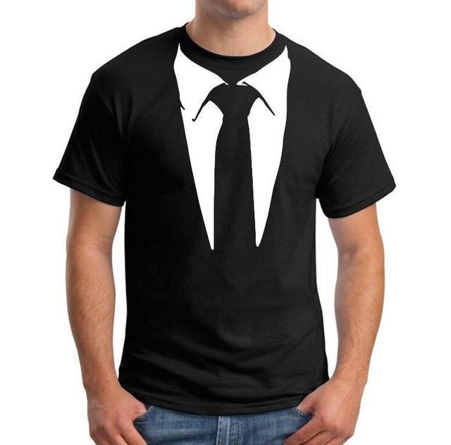 0e95674f2 New Summer Novelty Men T Shirts Tuxedo Tees Retro Tie Funny Tshirt Men O  Neck Hip Hop Tops Tee Casual Mens Clothing Camisetas
