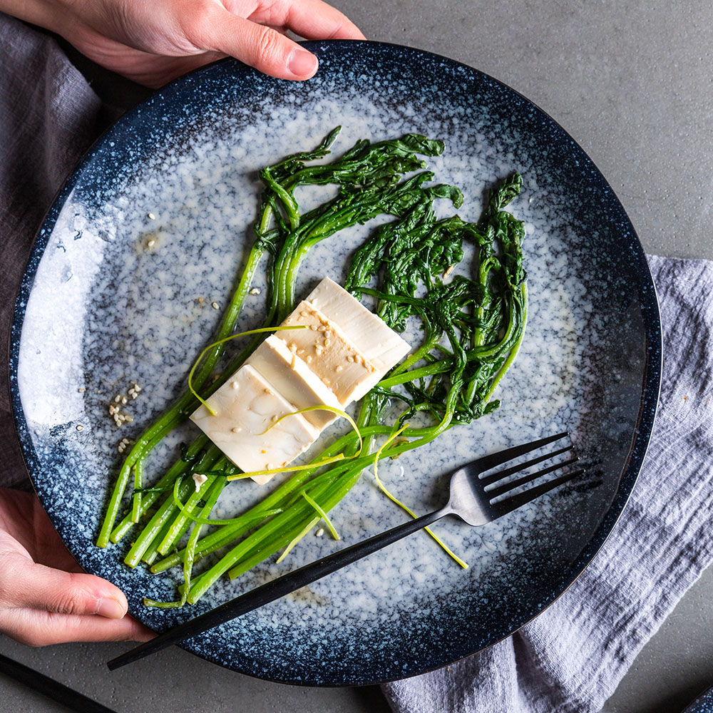 European Style Ceramic Plates Transmutation Glaze Plate Steak Home Decor Tableware Dessert Salad Tray Kitchen Dinner Dish