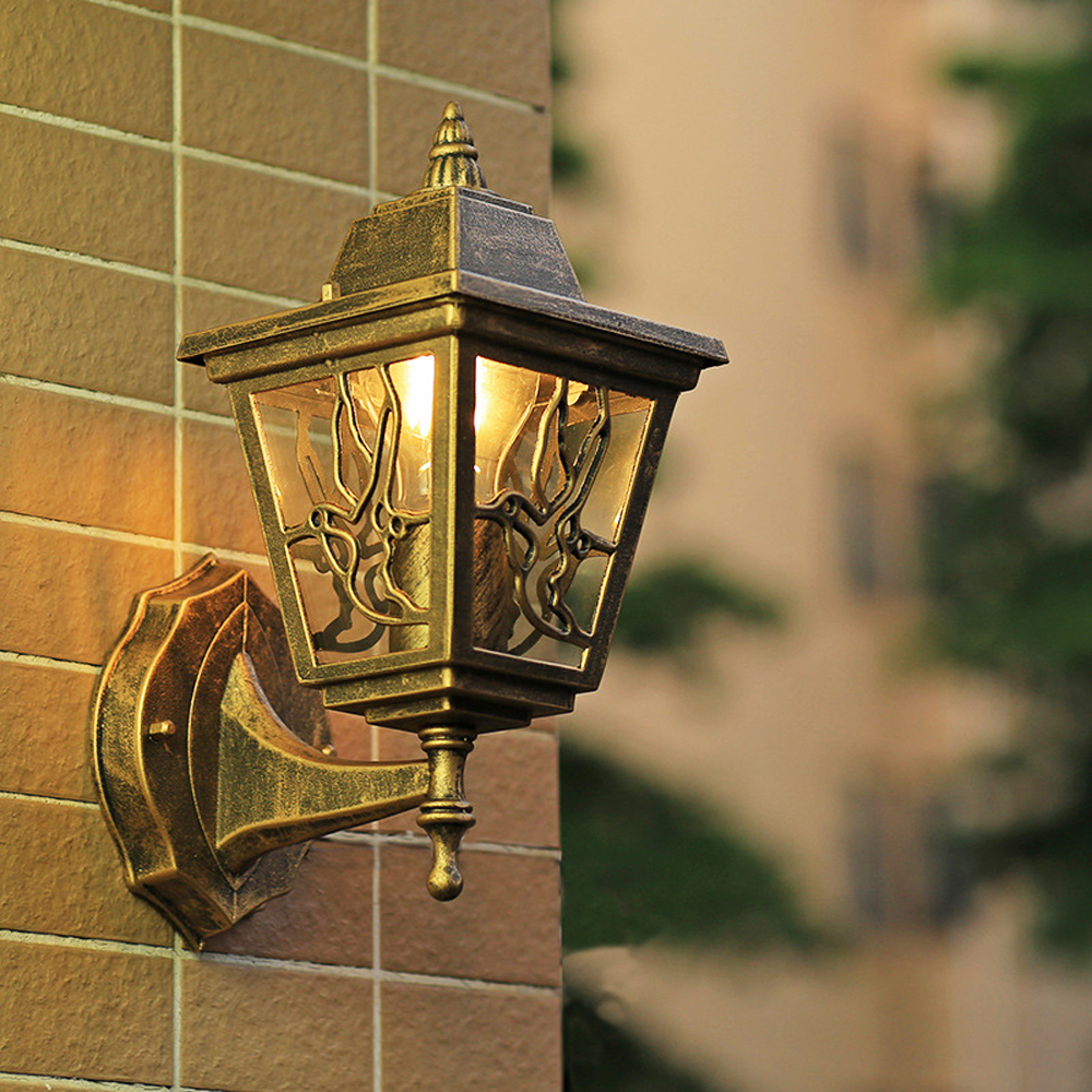 LED Garden Wall Light Outdoor Lighting Wall Lamps Outside Patio Bronze Exterior Sconces E27 Bulb Yard Street Waterproof Lamp