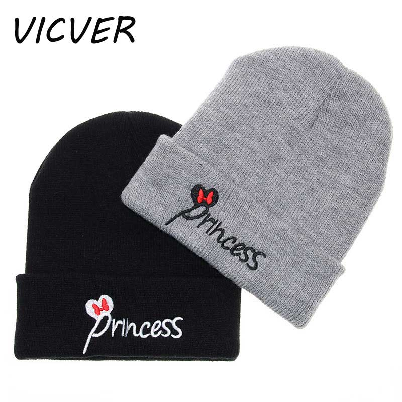 Winter Hats for Kids Princess Letter Embroidery   Beanie   Baby Autumn   Skullies     Beanies   Knit Caps Fashion Girls Boys Crochet Cap