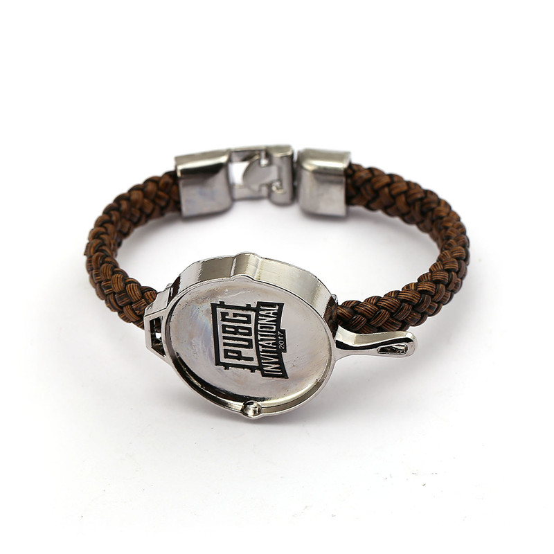 XS New Playerunknowns Battlegrounds Bracelet PUBG Metal Alloy Small Pan Logo 2 Models Bracelets For Women Men Jewelry Bangle