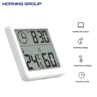 Multifunction Automatic Electronic Temperature And Humidity Monitor Clock 3 2inch Large LCD Screen