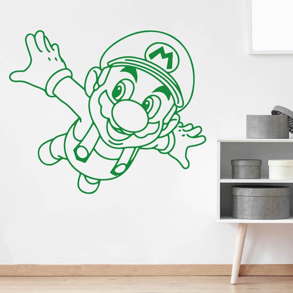 Cartoon Super Mario Bros Luige Game Vinyl Wall Sticker Decal Kids Room Nursery