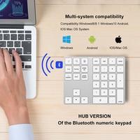 34 2 in 1 USB C 3.1 HUB Wireless Numeric Keypad Bluetooth 34 keys Numpad Type C Keypad Wireless For Android Phone For Apple Acount (5)