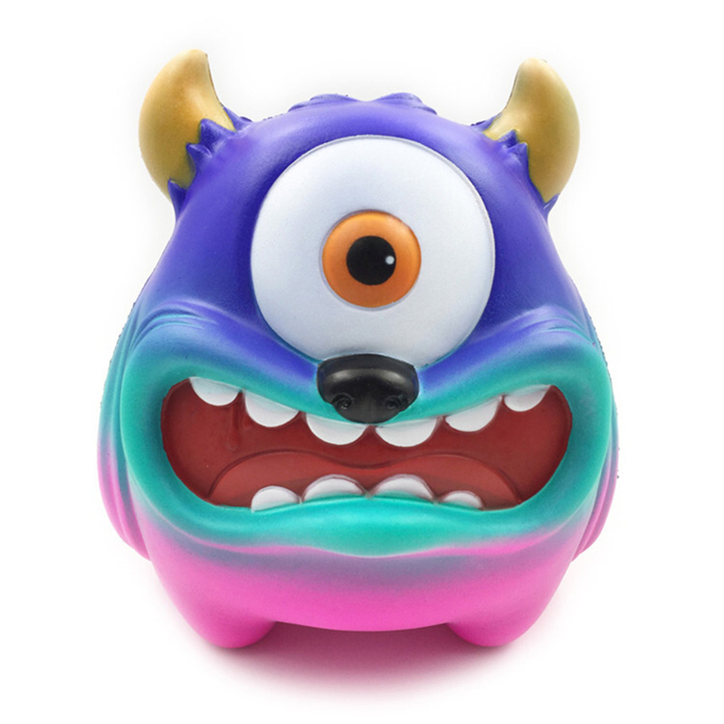 Dropshipping Monocular Monster Squishy Toy Soft Squeeze Slow Rebound One-eyed Monster Slow Rising Anti Stress Reliever