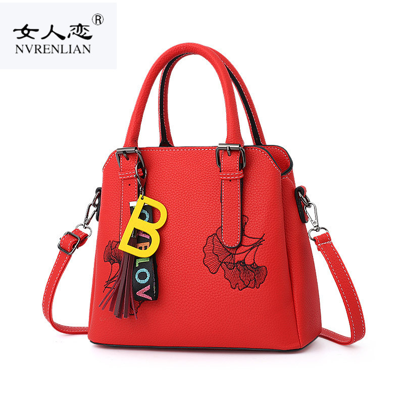 цена на NRENLIAN Women Shoulder Bags Fashion Famous Brand Embroidery Handbag Luxury Crossbody Bag Large Capacity Tote Sac