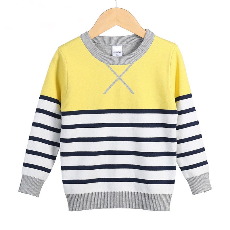 Boys Knitted Sweater Striped Autumn Children S Clothing
