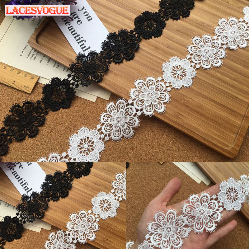 Apparel Sewing & Fabric Home & Garden Purposeful 7yards White,black 4cm Water Soluble Lace Ribbon Needlework Sewing Patchwork Lace Accessories Lace Trimmings For Sewing Lavo6001
